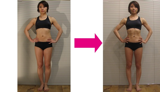 週2回、2カ月ちょっとで、約48kgだった体重が、目標を大幅クリアし、42kgへ。